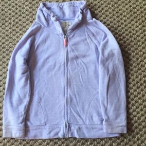 Zip Up Sweat shirt in Lilac - runs small